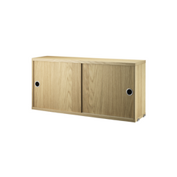 String - Cabinet with Sliding Doors