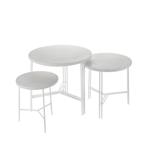 Terrazzo Side Tables White