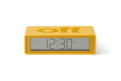 Flip Alarm Clock Rubber Yellow