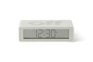 Flip Alarm Clock Rubber White