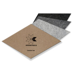 Pad Coaster Set - Grey Cube