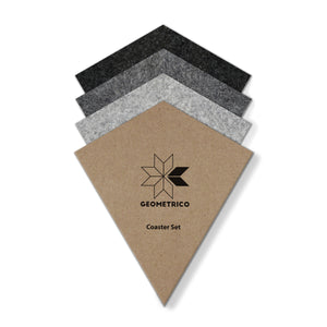 Pad Coaster Set - Grey Triangle