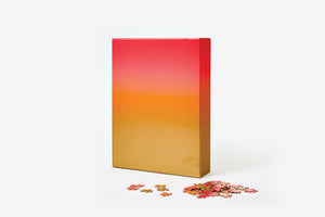 Gradient Puzzle Large - Gold/Red