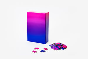 Gradient Puzzle Medium - Blue/Pink