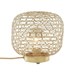 Jali Brass Grille Table Lamp