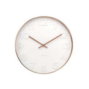 Mr White Copper Small Clock