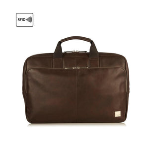 "Brompton Classic/Newbury 15"" Brown Briefcase"