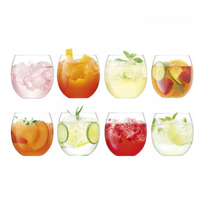 Set of Eight Balloon Tumblers