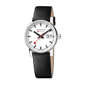 EVO2 Big Date Watch - Black 30mm Leather Strap