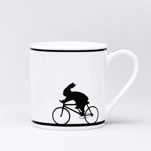 Cycling Rabbit Mug