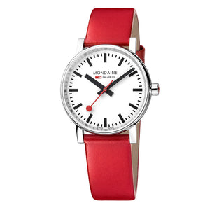 Evo2 Stainless Steel Case 35mm Red Strap