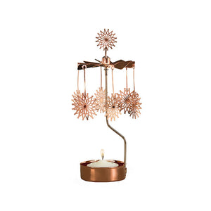 Copper Flower Star Rotary Candle Holder