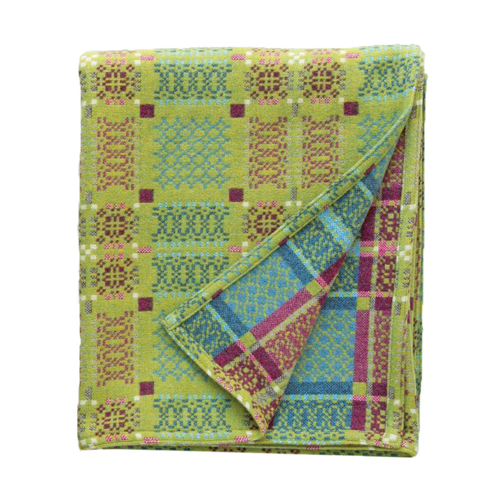 Knot Garden Throw - Green