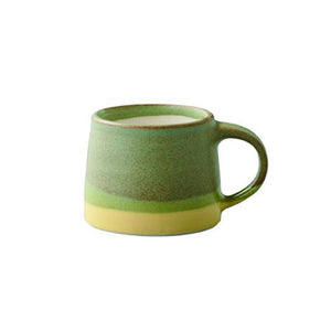 SCS Espresso Mug Moss Green & Yellow