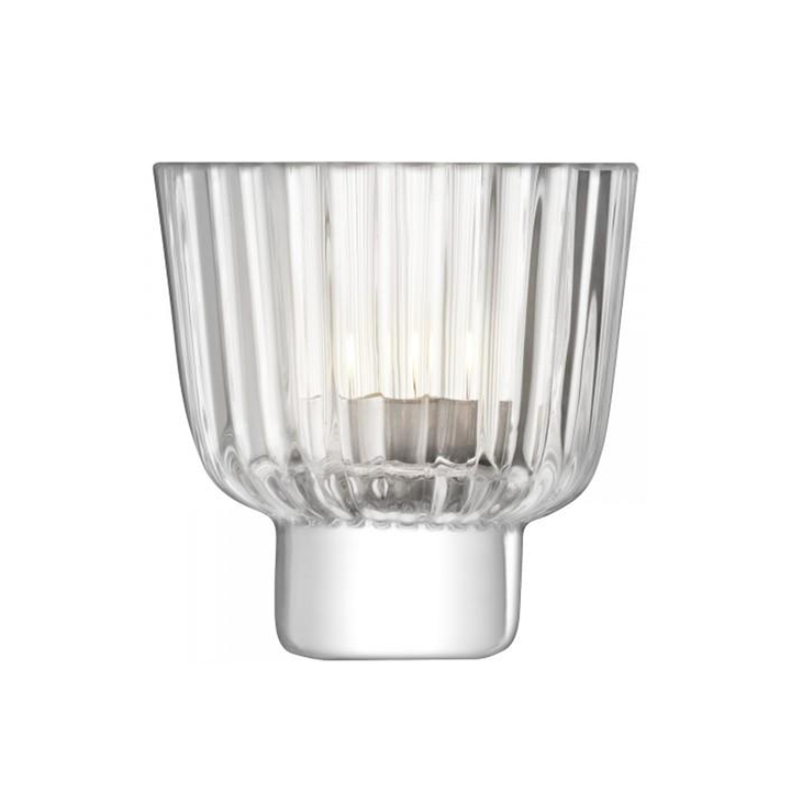 Pleat Tealight Holder Clear