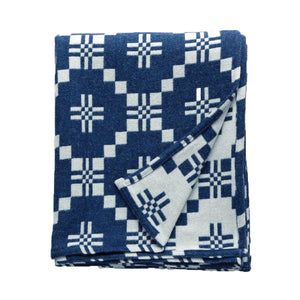 St Davids Cross Throw - Indigo