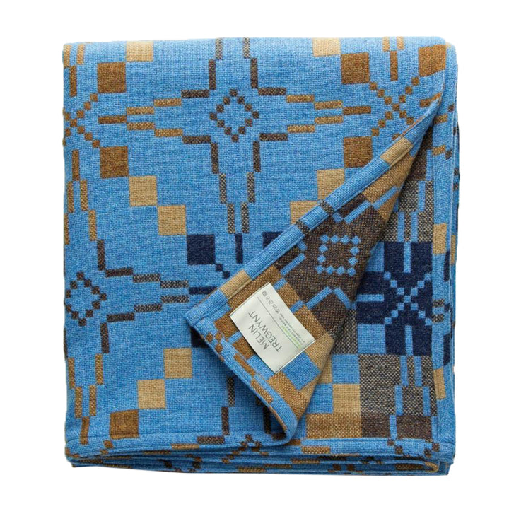 Vintage Star Throw - Blue