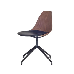 Ziba Chair - Walnut & Black Leather