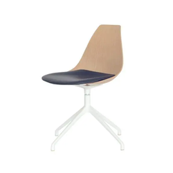 Ziba Chair - Oak & Black Leather