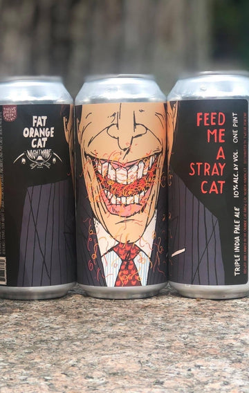 Fat Orange Cat & Nightmare Brewing Feed Me A Stray Cat TIPA