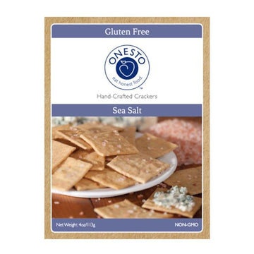 Sea Salt Crackers Gluten Free - Onesto
