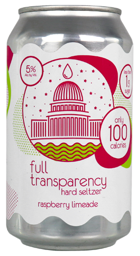 DC Brau's Full Transparency Raspberry Lime Hard Seltzer