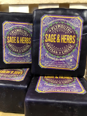 Sage and Herb Cheddar - Plymouth Artisan Cheese