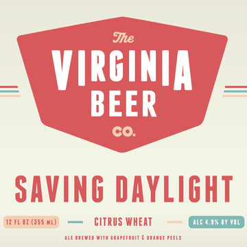 Virginia Beer Co Saving Daylight American Wheat Beer *Single Cans*
