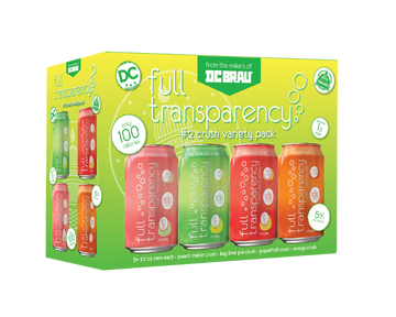 DC Brau's Full Transparency #2 Crush Variety Pack 12 pack