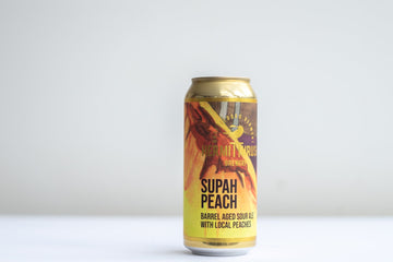 Hermit Thrush Supah Peach Barrel Aged Sour Golden Ale *Single Can*