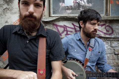 Aver Brothers wearing Copperpeace Straps