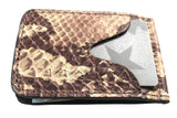 Billy Pick Fold Wallet - Snakeskin Leather Impression
