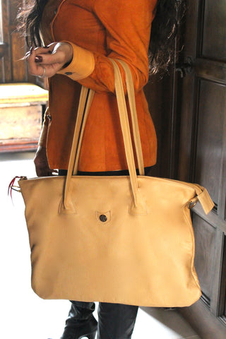 Only One Portfolio Bag - Camel
