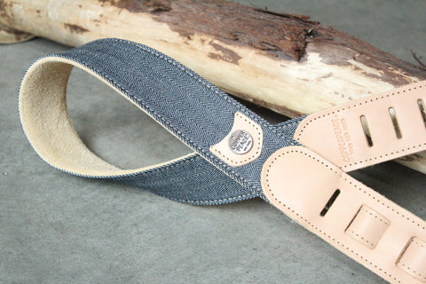 Herringbone Leather Banjo Strap