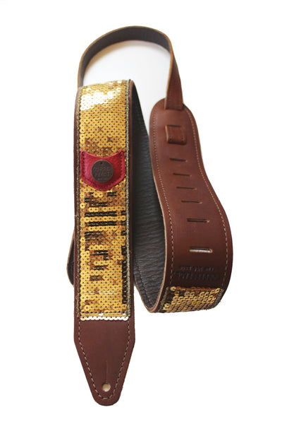 Copperpeace Glovely Guitar Strap in Gold