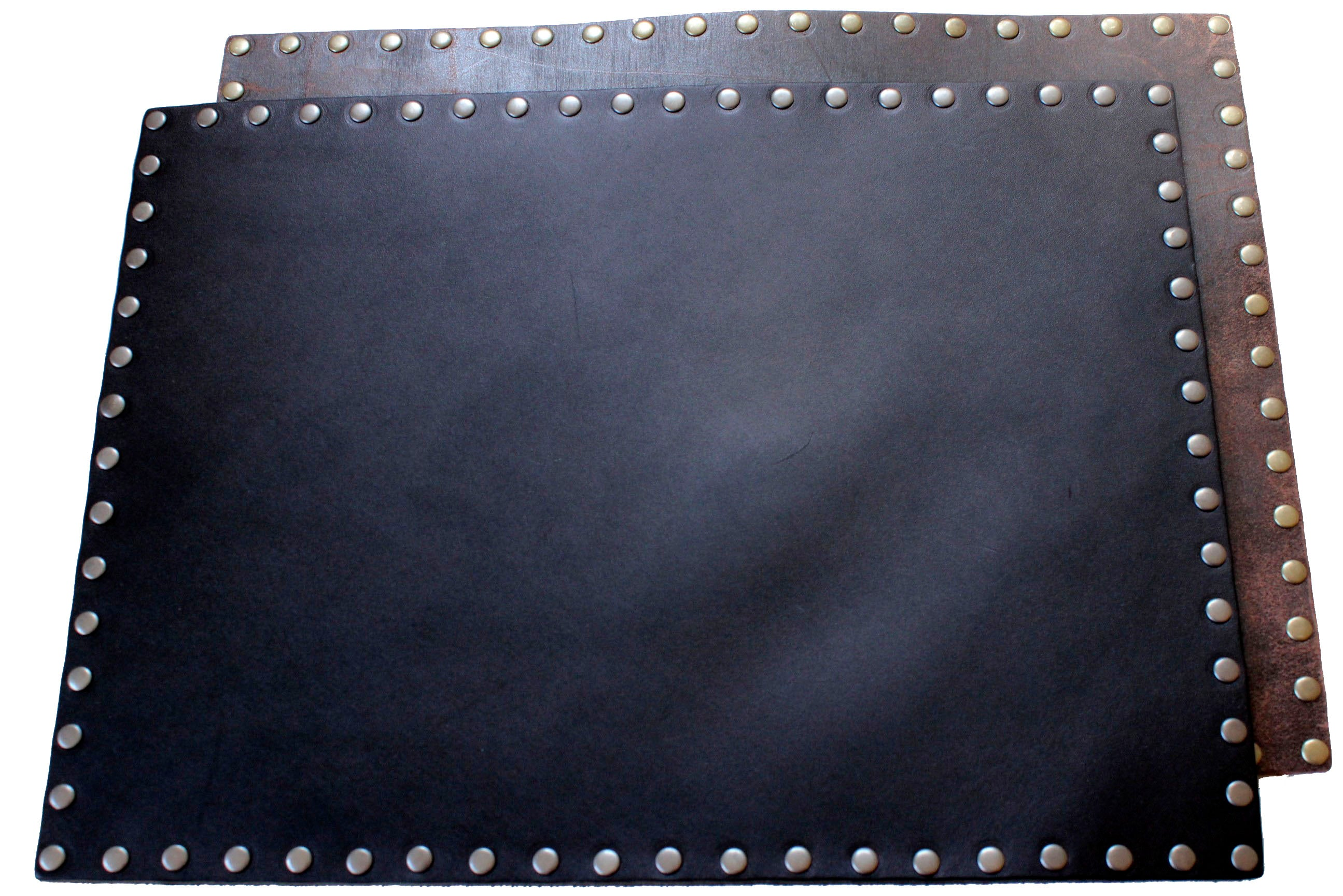 Leather Placemat Black Or Brown The Copperpeace Store