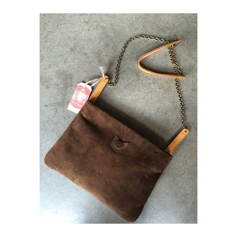Chocolate Suede Copperpeace Concert Clutch