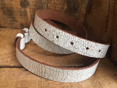 """Weathered Leather"" Vintage Buckle Guitar Strap"