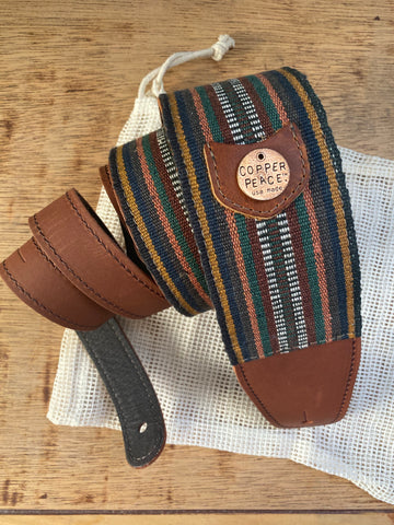 Guatemalan Hand Woven Leather Guitar Strap