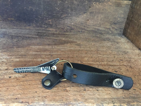 Copperpeace Strap Key Fob and Uncut Guitar Key