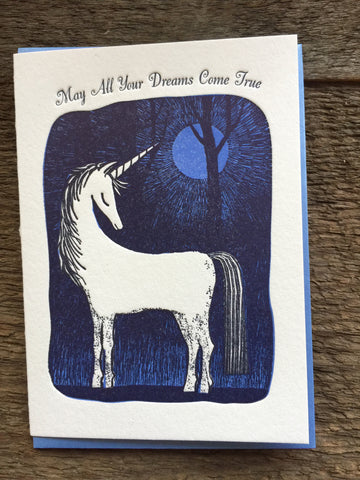 """May all Your Dreams Come True"" Unicorn Card"