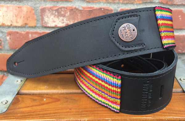 The Suerte Rainbow Guitar Strap - Hand Embroidered Limited Edition