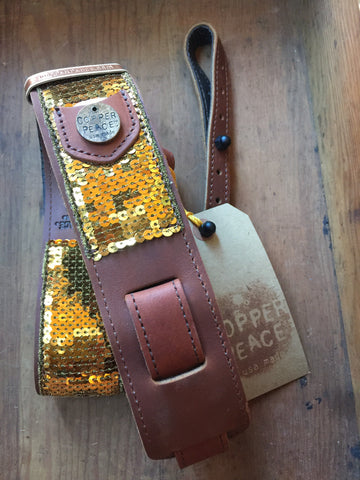 Glovely Gold Sequin Banjo Strap