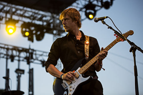 Paul Banks wearing a Glovely Guitar Strap