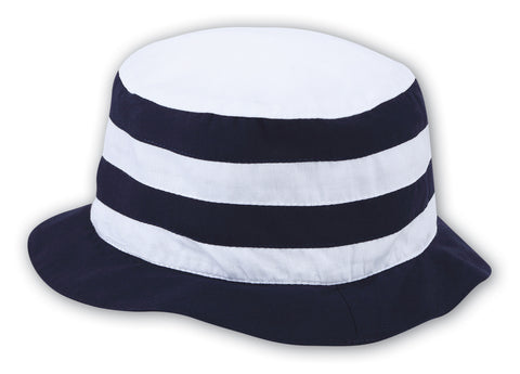 Sarah Louise Navy & White Stripe Sun Hat -  Spoiled Rotten Childrenswear