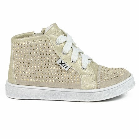 Xti Girls Gold High Top Trainers - Last EU 30 -  Spoiled Rotten Childrenswear