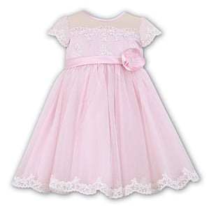 Sarah Louise Pink & Ivory Lace Ceremonial Dress - Last 3 months -  Spoiled Rotten Childrenswear