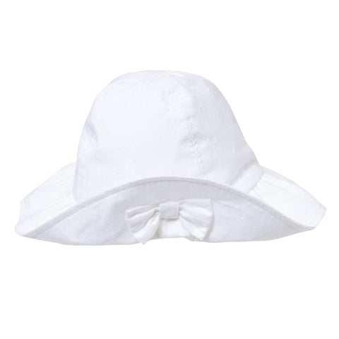 Lili Gaufrette Baby Girls White Sun Hat - Last 3-6 months -  Spoiled Rotten Childrenswear
