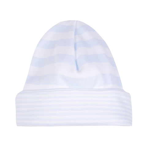 Absorba Baby Boys Blue Stripe Cotton Hat