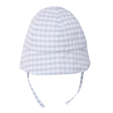 Absorba Baby Boys Blue Check Sun Hat -  Spoiled Rotten Childrenswear
